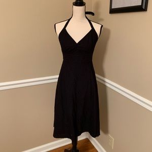 J. Crew Embossed Cotton Fit & Flare Midi Dress
